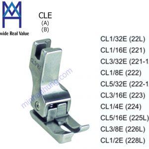 CL1/2E, CL1/4E, CL1/8E, CL1/16E, CL1/32E, CL3/8E, CL3/16E, CL3/32E, CL5/16E, CL5/32E