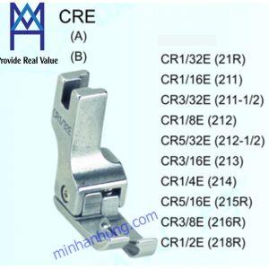 CR1/2E, CR1/4E, CR1/8E, CR1/16E, CR1/32E, CR3/8E, CR3/16E, CR3/32E, CR5/16E, CR5/32E