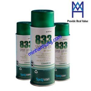 SPRAYVAN 833 - Chai xịt tẩy dầu cho vải nhạy cảm