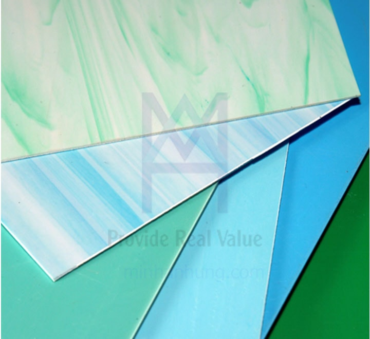 Tấm nhựa PVC đục vân xanh Việt Trung
